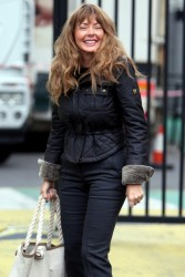 Carol Vorderman - Arriving at the London Studios in Tight Pants - Butt Shots! - 09.20.12