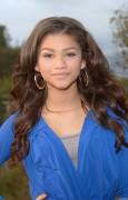 Zendaya Coleman - posing in a blue jumpsuit in LA 12/4/12