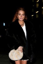 Lindsay Lohan - leaving Boujis nightclub in London 12/30/12