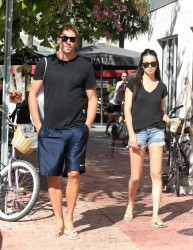Adriana Lima - out and about in Miami 1/5/13