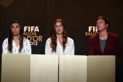 Alex Morgan - FIFA press conference in Zurich 1/7/13