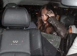 Minka Kelly - leaving Bootsy Bellows Nightclub in Hollywood 1/12/13
