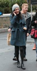 Jennifer Connelly - on the set of 'Winter's Tale' in NY 1/14/13