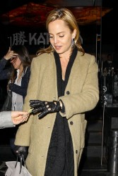Mena Suvari - leaves Katsuya restaurant in Hollywood 1/12/13