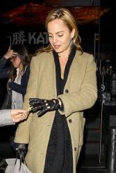 Mena Suvari - leaves Katsuya restaurant in Hollywood 1/12/13