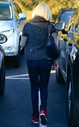 Rose McGowan - at a hair salon in LA 1/14/13