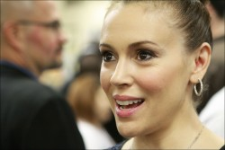 Alyssa Milano - A Night Of Entertainment with Don Mattingly Hosted By George Lopez in LA 1/24/13
