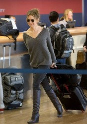 Renee Zellweger - at LAX Airport 1/31/13
