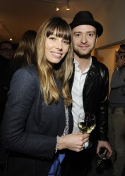 Jessica Biel - Darren Le Gallo art exhibition in LA 2/7/13