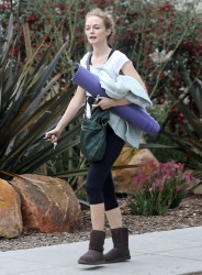 Heather Graham - leaving yoga class in Santa Monica 2/8/13