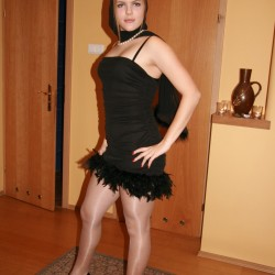 candid nylon pantyhose photo