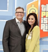 Demi Lovato - set of 'the Price is Right' Feb 2013