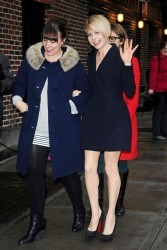 Michelle Williams - arrives at the Late Show with David Letterman in NYC 2/19/13