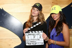 Nina Agdal - American Eagle store opening in Mexico City 2/19/13