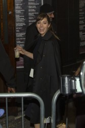 Jessica Biel - backstage at Justin's concert in London 2/20/13