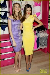 Miranda Kerr & Behati Prinsloo - Victoria's Secret Fabulous collection launch in NYC 2/26/13