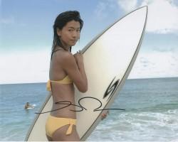 Grace Park: Yellow Bikini: HQ x 1