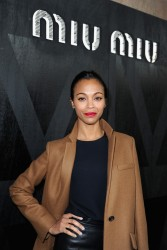 Zoe Saldana - Miu Miu F/W 2013 Fashion Show in Paris 3/6/13