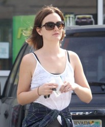 Leighton Meester - Getting gas in Hollywood 3/10/13