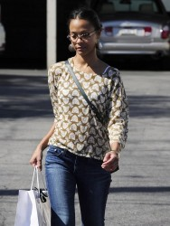 Zoe Saldana - Shopping in West Hollywood 3/12/13