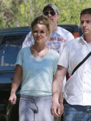 Britney Spears - At a friends house in LA 3/16/13