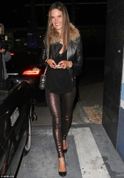 Alessandra Ambrosio - at Bootsy Bellows in West Hollywood 3/16/13