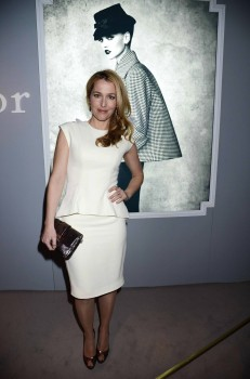 Gillian Anderson, Dior at Harrods Dinner, London March 15, 2013