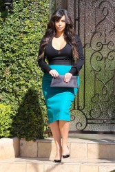 Kim Kardashian - leaves her home in Beverly Hills 3/24/13