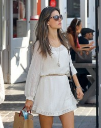Alessandra Ambrosio - leaving the Brentwood Country Mart 3/24/13