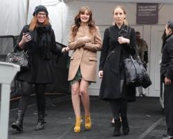 Leighton Meester Leggy @ Vera Wang Fall '12 Fashion Show Feb 14,'12 HQ's x 63