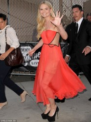 Jennifer Morrison - at Jimmy Kimmel Live in Hollywood 4/16/13
