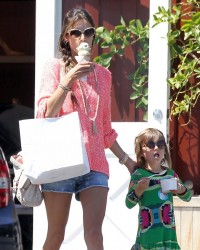 Alessandra Ambrosio - at the Brentwood Country Mart 4/18/13