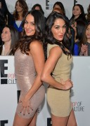 Nikki & Brie Bella - E! 2013 Upfront in New York 4/22/13
