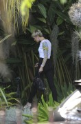 Miley Cyrus at a studio in hollywood 4/23/13