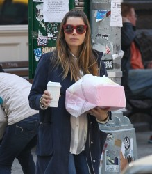 Jessica Biel - out in NYC 4/26/13