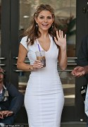 Maria Menounos - on the set of Extra in LA 5/7/13