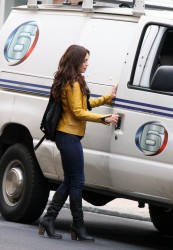 Megan Fox - On the set of TMNT in NYC 5/9/13