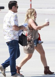 Hilary Duff - at Van Nuys Airport 5/10/13