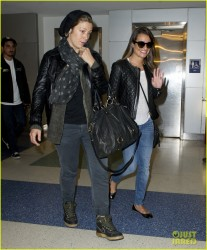 Lea Michele - at JFK Airport in NYC 5/12/13