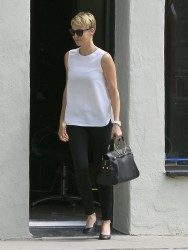 Charlize Theron - at a nail salon in West Hollywood 5/17/13