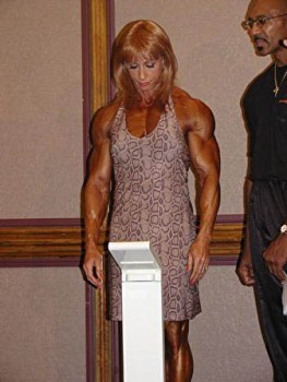 Betty at the inaugural phoenix pro one of her last competitive