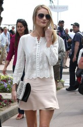 Rosie Huntington-Whiteley - out in Cannes 5/22/13