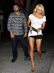 Pamela Anderson - out in West Hollywood 5/27/13