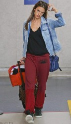 Alessandra Ambrosio - at LAX Airport 6/4/13