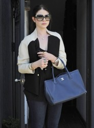 Michelle Trachtenberg- Stopping by Kate Somerville in West Hollywood 6/6/13