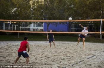 Para karyawan juga bisa bermain voli di lapangan / Incredible Features