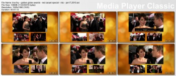 TINA FEY - golden globe awards - red carpet special - nbc - jan17,2010