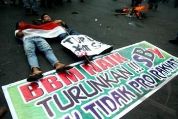 Demo Penolakan Kenaikan BBM / Antara