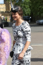 Pippa Middleton - at a wedding in Northumberland 6/22/13