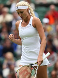 Kristina Mladenovic - Wimbledon 2013 Day 1 in London 6/24/13